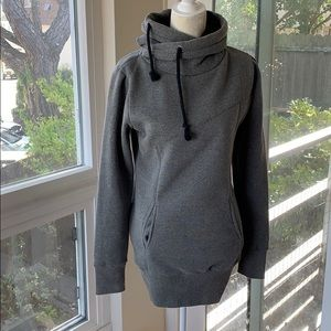 Sweaters - Warm grey scarf hoodie